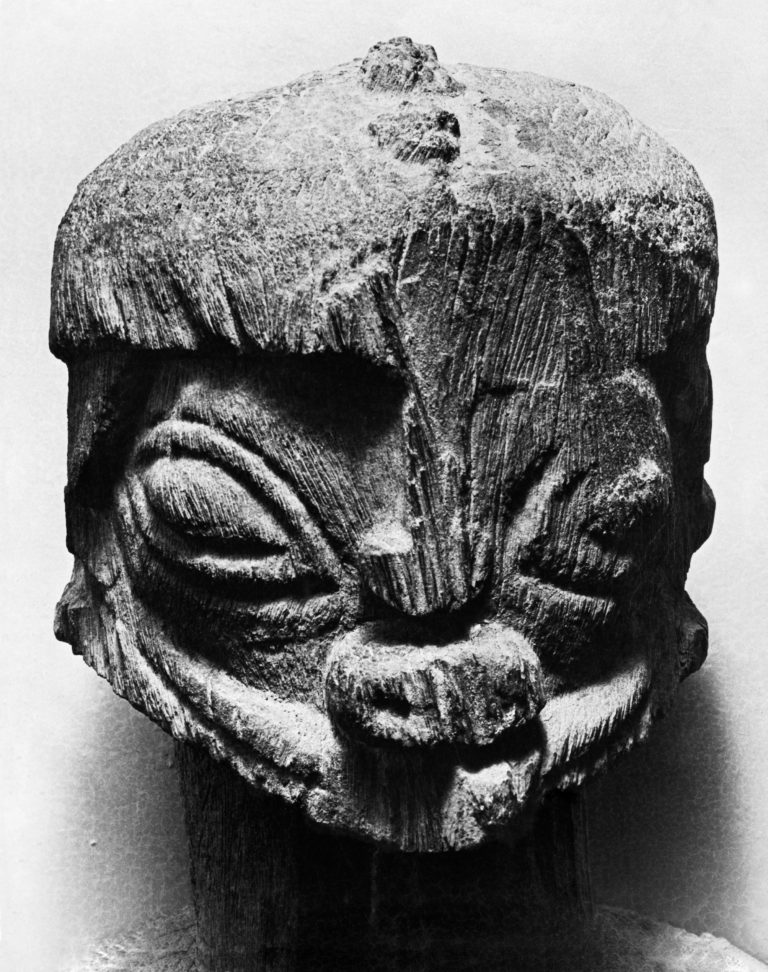 Dogon Hermaphrodite sculpture from Soudan-Mali, Head. Inv. Number : BWH729 photographed in 1936.