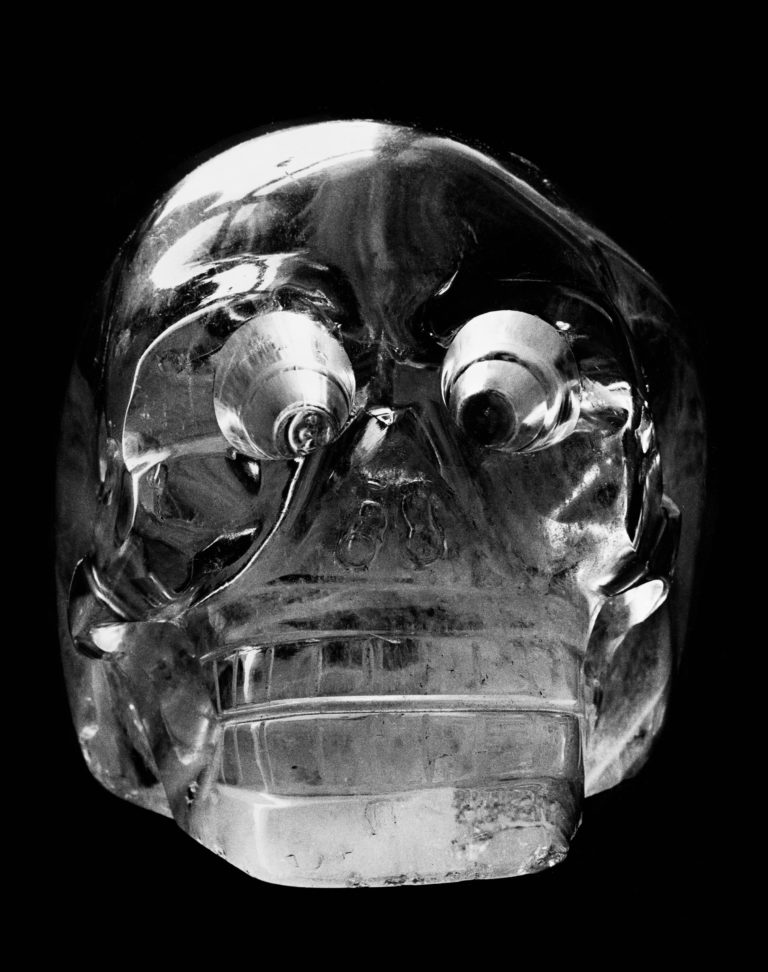 Crystal head 19th century, BWH1031 photographed in 1936